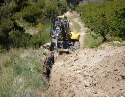 travaux d'irrigation LA ROQUE ALRIC
